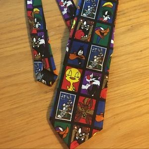 Vintage '97 Looney Tunes USPS Stamp Collection Tie